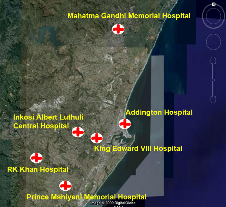 Hospitals in Durban